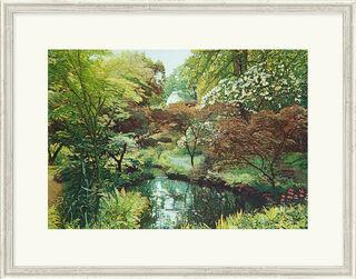 """Bild """"Japanischer Garten II"""", gerahmt"""