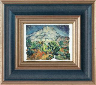"""Bild """"La Montagne Sainte-Victoire"""" (1896/98), gerahmt"""