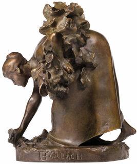 """Skulptur """"Die Krautpflückerin"""" (1894), Reduktion in Bronze"""