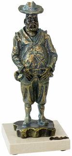 "Skulptur ""Sancho Panza"", Kunstguss Steinoptik"