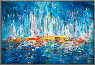 "Bild ""Sailing Boats"" (2021) (Original / Unikat), gerahmt"