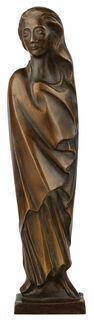 """Skulptur """"Frau im Wind"""" (1931), Reduktion in Bronze"""