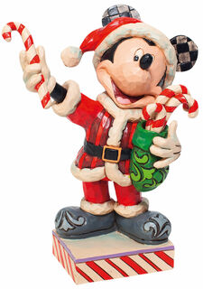 """Skulptur """"Mickey Mouse mit Zuckerstange"""", Kunstguss"""