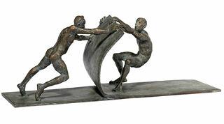 """Skulptur """"Gemeinsam bewegen"""" (2019), Bronze"""
