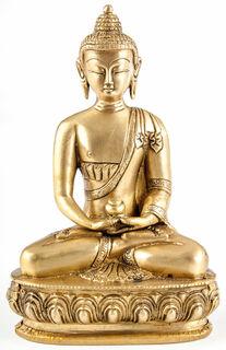 "Messingskulptur ""Buddha Amitabha"""