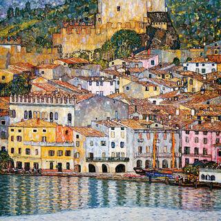 """Bild """"Malcesine am Gardasee"""" (1913)"""