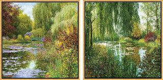"2 Bilder ""Giverny Juin"" + ""Giverny le Soir"" im Set"