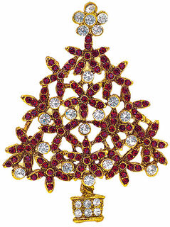 """Weihnachtsbrosche """"Tannenbaum"""""""