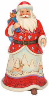 """Skulptur """"Weihnachtsmann mit Geschenken"""", Kunstguss"""