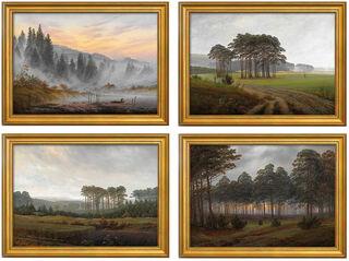 """4-teiliges Bilderset """"Der Tageszeitenzyklus"""" (1821/22), gerahmt"""