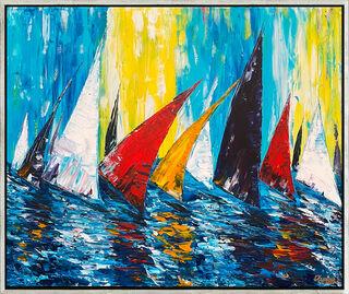 "Bild ""Sailing"" (2021) (Original / Unikat), gerahmt"
