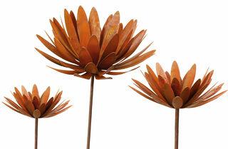 "Gartenstecker-Blumenset ""Chrysantheme"", 3er-Set"