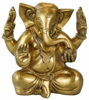 "Messingskulptur ""Indischer Gott Ganesha"""