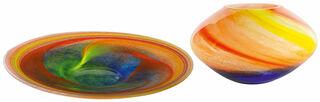 """Glasschale und -vase """"Mars"""" im Set"""